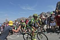 Rafal Majka v sólovém úniku na slavný Tourmalet na Tour dde France.