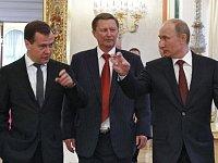 Dmitrij Medveděv, Sergej Ivanov a Vladimír Putin
