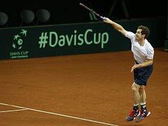 Andy Murray při tréninku.
