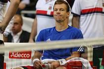 Tomáš Berdych skrečoval v Davis Cupu zápas s Philippem Kohlschreiberem.