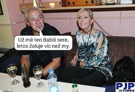 Ve vtipech se objevila i známá manželská dvojice Helena Vondráčková a Martin Michal