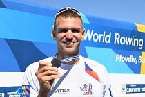 Ondřej Synek se stříbrnou medailí.
