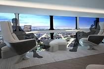 Vzducholoď Airlander má první cestující přivítat v roce 2025. Užijí si luxusní cestu s minimálními turbulencemi a panoramatickými okny. Foto: Hybrid Air Vehicles