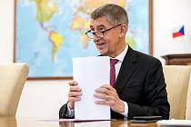 Premiér Andrej Babiš poskytl 19. února v Praze rozhovor Deníku.
