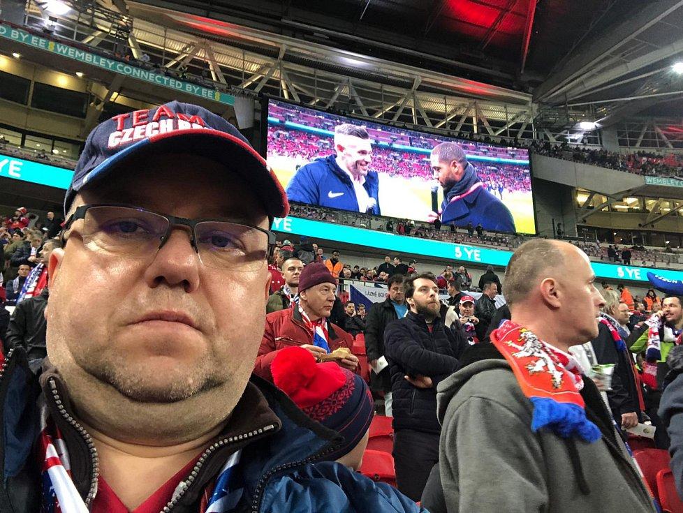 Selfie ve Wembley od fanouška z Tachova.