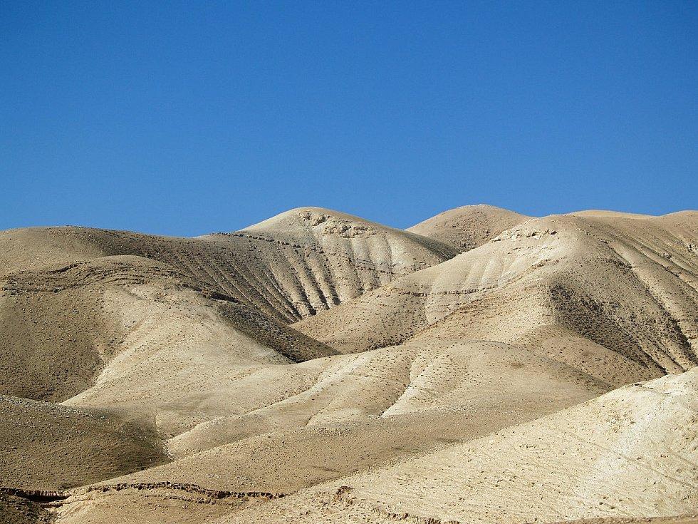 Takzvaná jeskyně hrůz se nachází v Judské poušti v Izraeli