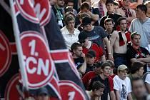 Smutek fanoušků Norimberku po prohraném utkání s Herthou Berlín.