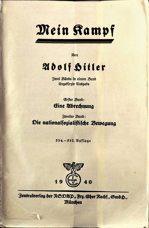 Válečné vydání Mein Kampf z roku 1940