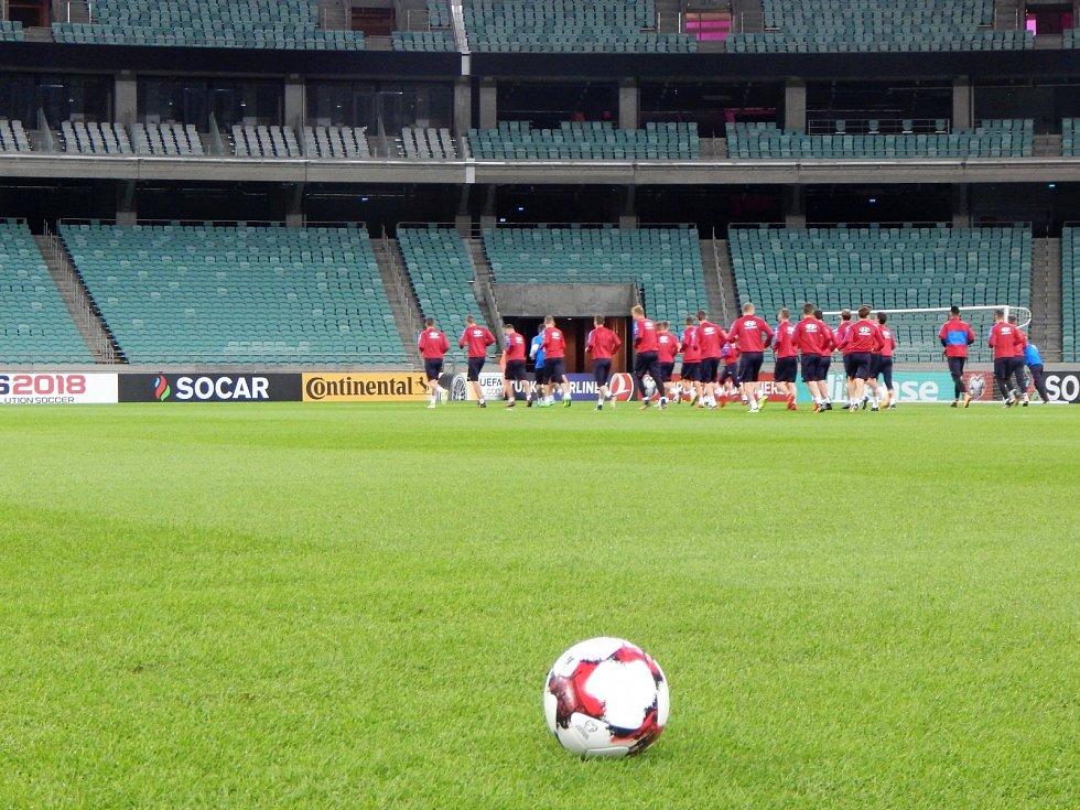 Trávník si před bezmála čtyřmi lety čeští fotbalisté pochvalovali. Nakonec vyhráli 2:1, trefil se i Antonín Barák.