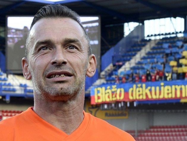 Brankář Jaromír Blažek se na Spartě rozloučil s kariérou benefičním zápasem.