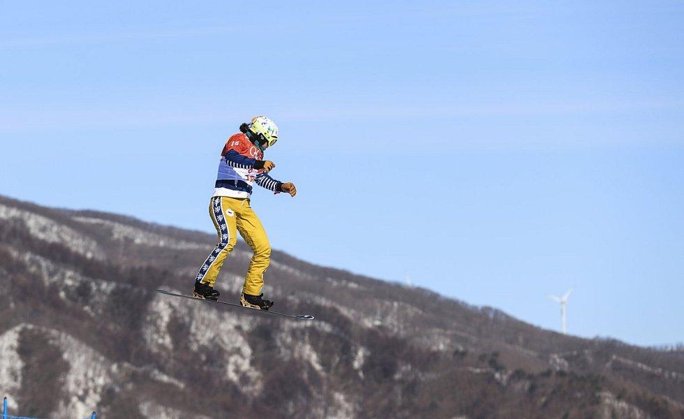 Eva Samková ve finále na olympijských hrách v Pchjongřchangu.