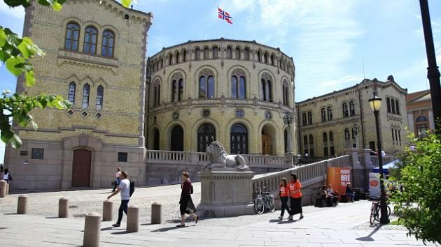 Budova parlamentu v norském Oslu