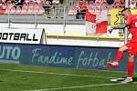 Fotbalový záložník Ondřej Vaněk v dresu Zbrojovky Brno v zápase proti Líšni