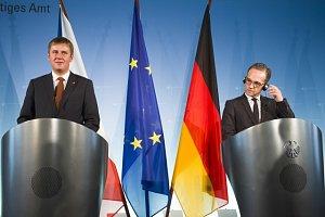 Český ministr  zahraničí Tomáš Petříček a jeho německý protějšek Heiko Maas.