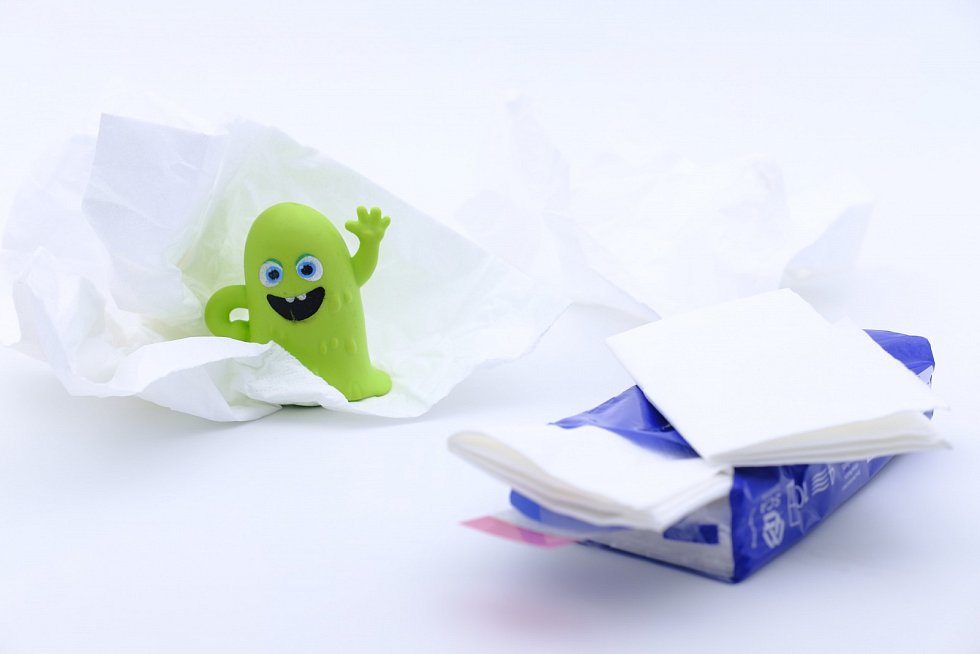 Papírové kapesníčky. Ilustrační foto