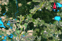 Plánovaný úsek IV: železničního koridoru mezi Ševětínem a Nemanicemi
