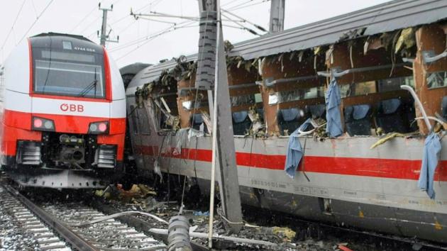 Srážka vlaků u rakouské obce Niklasdorf