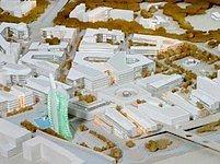 Model nové čtvrti Karolina v Ostravě