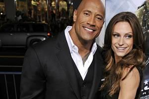 Herec Dwayne Johnson a jeho přítelkyně Lauren Hashianová