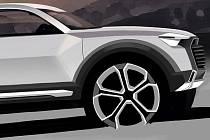 První skica připravovaného crossoveru Audi Q1.