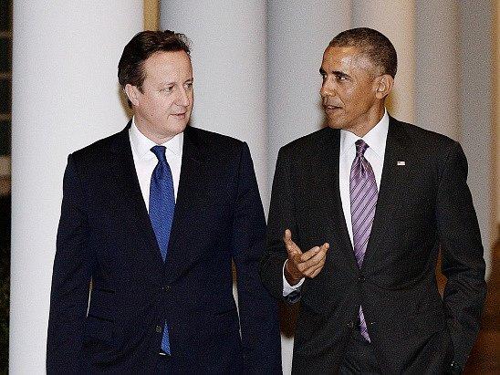 David Cameron a Barack Obama
