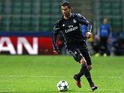 Cristiano Ronaldo z Realu Madrid se proti Legii varšava neprosadil.