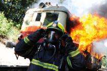 Hořící vlak