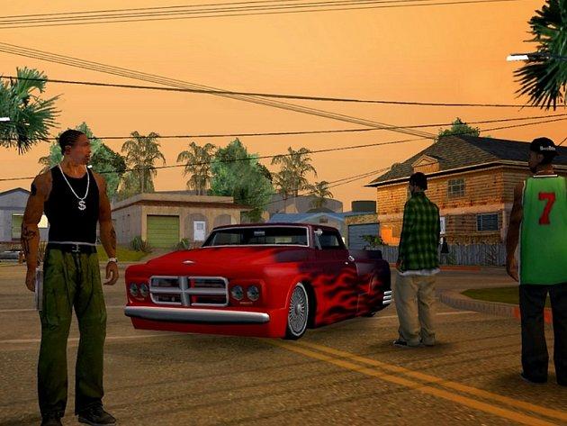 Počítačová hra GTA: San Andreas.