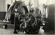 Malá vodní elektrárna Želina - strojovna (1931)