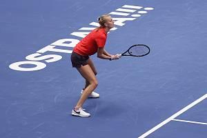 Petra Kvitová se do finále turnaje v Ostravě nepodívá.
