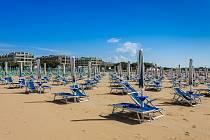 Pláž v italském Bibione