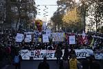 Demonstrace v Paříži na protest proti návrhu zákona o globální bezpečnosti