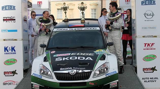 Jan Kopecký vyhrál Rallye Šumava.