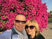 Hana Zagorová a Štefan Margita v Dubaji