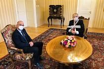 Prezident Miloš Zeman a kandidát na ministra zdravotnictví Jan Blatný