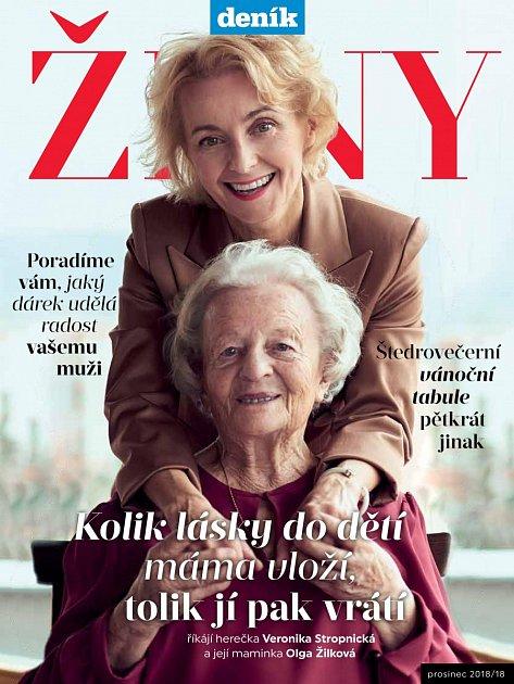 Obálka magazínu Ženy sVeronikou Stropnickou a Olgou Žilkovou