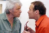 Jan a Kája Saudkovi na jedné z posledních společných fotografií z roku 2005.
