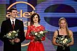 Slavnostní vyhlášení výsledků ankety Atlet roku 2013 se konalo 9. listopadu v Praze. Výškař Jaroslav Bába (vlevo) obsadil desátou příčku, chodkyně Anežka Drahotová (uprostřed) skončila na devátém místě, tyčkařka Jiřina Ptáčníková (vpravo) byla osmá.