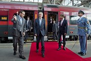 Alexander Van der Bellen přijel do Česka vlakem