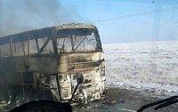 Shořelý autobus
