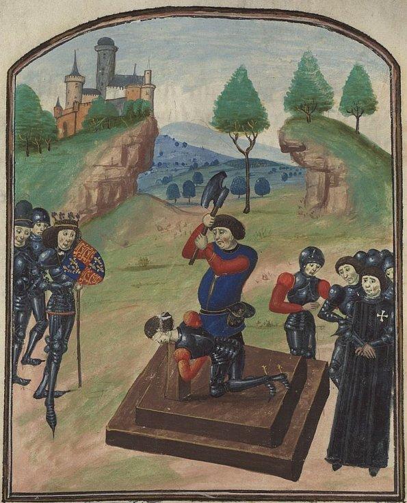 Poprava vévody ze Somersetu po bitvě