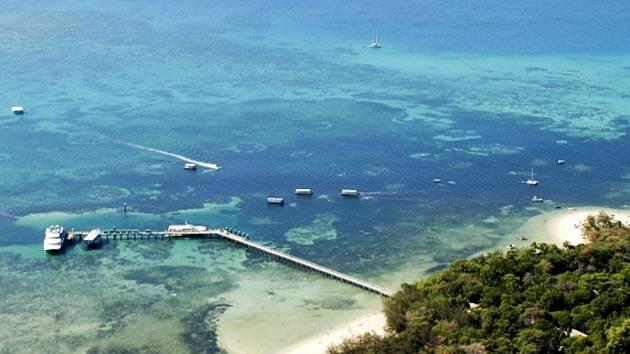 Velký bariérový útes v Austrálii.
