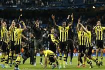 Fotbalisté Dortmundu slaví postup do finále Ligy mistrů, v semifinále vyřadili Real Madrid.