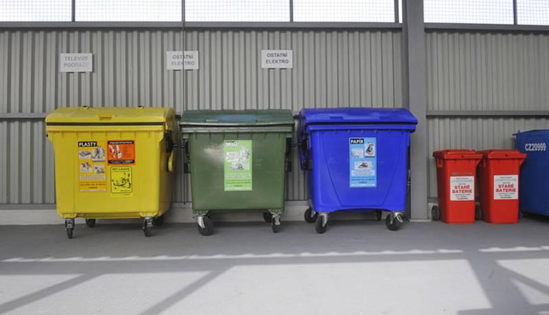Tříděný odpad, kontejnery, popelnice - ilustrační foto