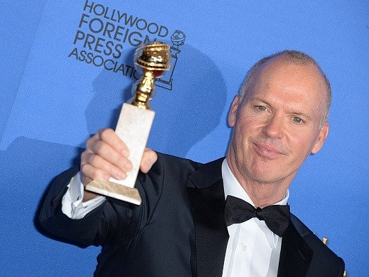 Michael Keaton se Zlatým globem.