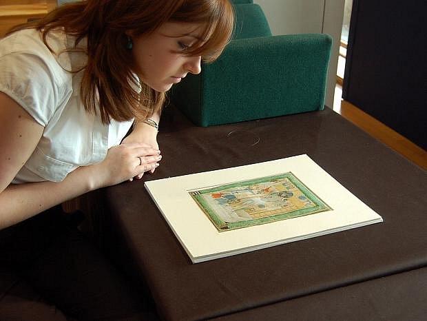 Za 61.250 liber (1,9 milionu korun) se 7. července v Londýně v aukční síni Christie´s vydražila iluminace Bolestný Kristus pocházející ze středověkých Čech (na nedatovaném archivním snímku). Cena je na spodní hranici odhadní ceny.