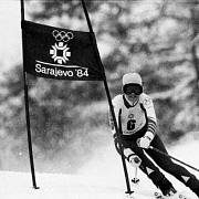 Olga Charvátová na ZOH v Sarajevu 1984