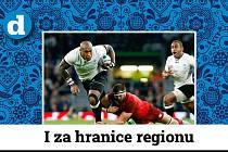 Ragbisté Anglie (v červeném) proti Fidži.
