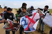 Střety Palestinců s izraelskou armádou v pásmu Gazy.