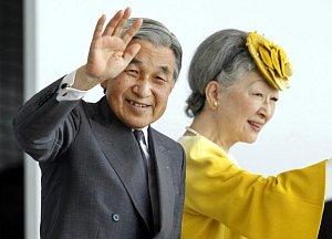 Japonský císař Akihito a jeho manželka Mičiko